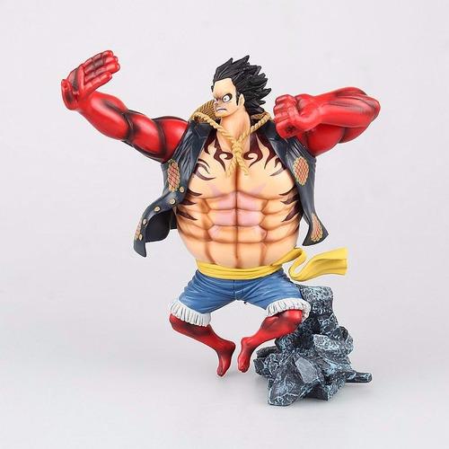 boxstore ] luffy figura colección importada 16cm alto caja