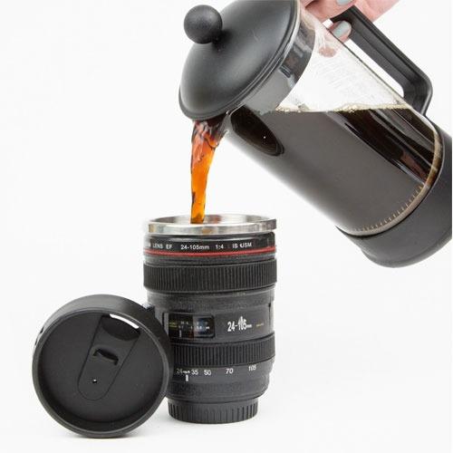 boxstore ] mug taza lente de camara