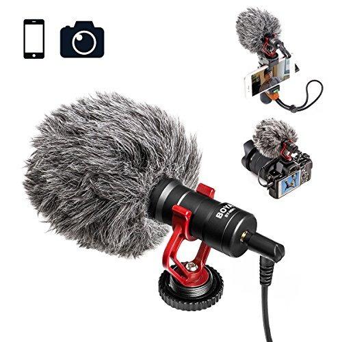 boya by-mm1 micrófono de video escopeta para iphone, huawei,