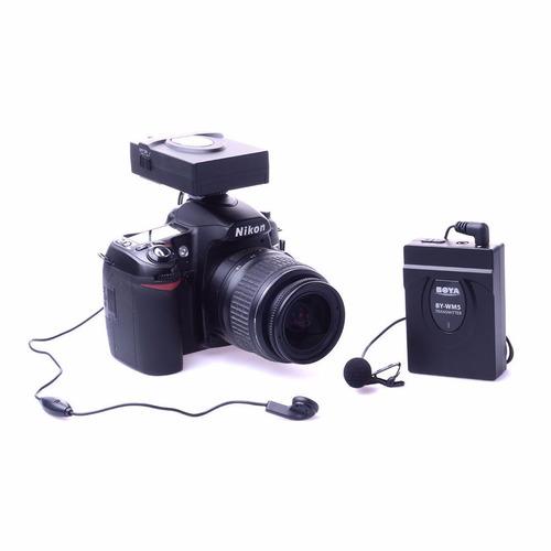 boya by-wm5 2.4ghz wireless lavalier microphone system dslr
