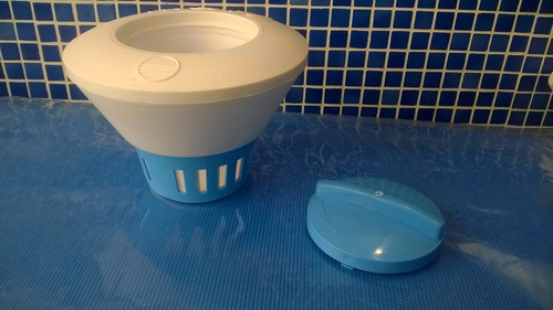 boya dosificadora de pastillas cloro c/regulador piscinas