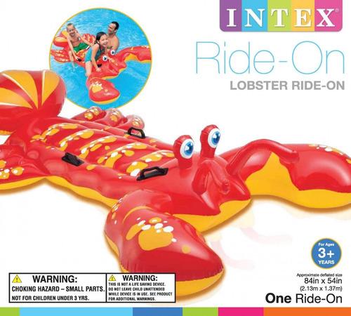 boya  inflable  flotador  de cangrejo intex  213cmx137cm