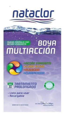 boya para pileta multiaccion recargable nataclor mm