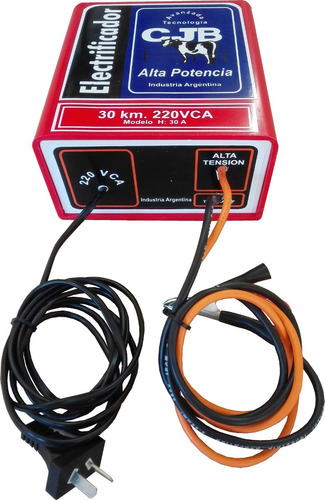 boyero eléctrico 30km.220v. cjb cercas de seguridad