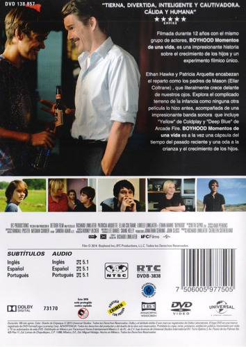 boyhood momentos de una vida richard linklater pelicula dvd