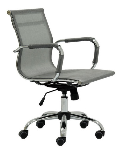 boyle silla para oficina de tela mesh - gris