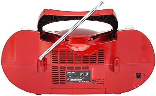boytone bt-6r cd boombox red color metálico edición sistema