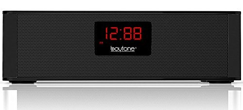 boytone bt-87cr radio despertador fm portátil, altavoz bluet