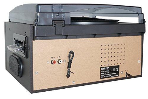 boytone bt22b bluetooth tocadiscos con reproductor de discos