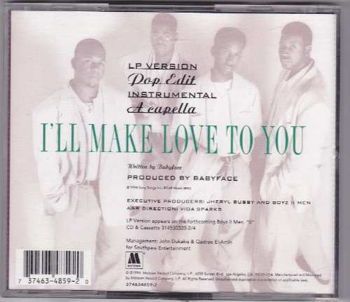 boyz ii men cd single i'll make love to you usher madonna
