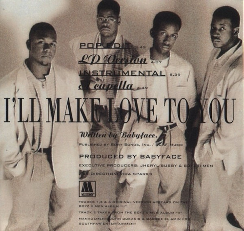 boyz ii men - i'll make love to you cd single importado new