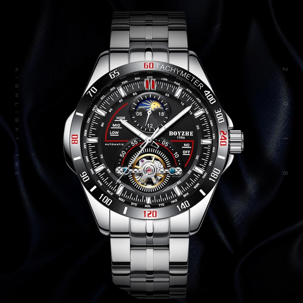 Wl019 Boyzhe Reloj Mecánico Negoc Para Automático Hombres xQBoeCrWd