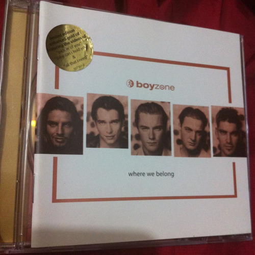 boyzone where we belong importado inglaterra special edition