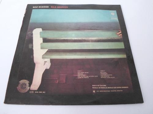 boz scaggs - silk degrees - vinilo argentino