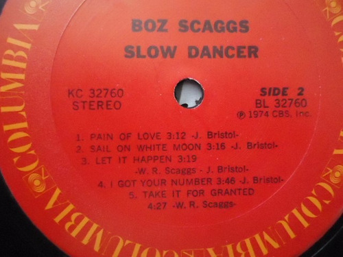 boz scaggs / slow dancer vinyl lp acetato