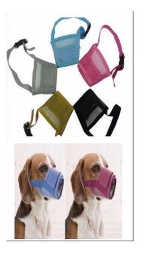 bozal de nylon ajustable de velcro perros m