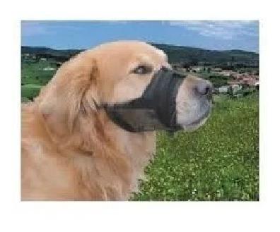 bozal nylon con cinta de nylon ajustable para perros talla m