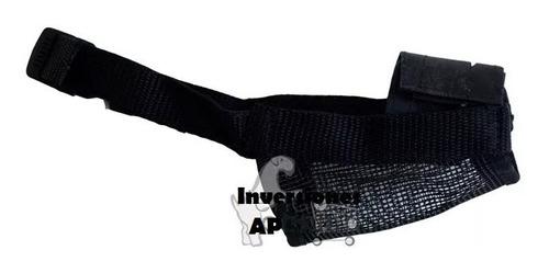 bozal nylon con cinta nylon ajustable para perros talla xl