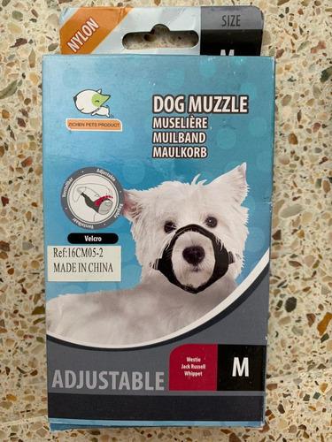 bozal para perros en nylon con velcro varias tallas