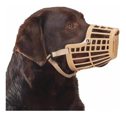 bozal plastico con cinta de nylon ajustable para perros xl 4