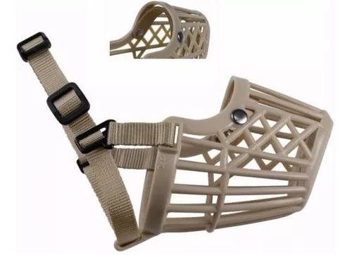 bozal plastico con cinta de nylon ajustable para perros xs1