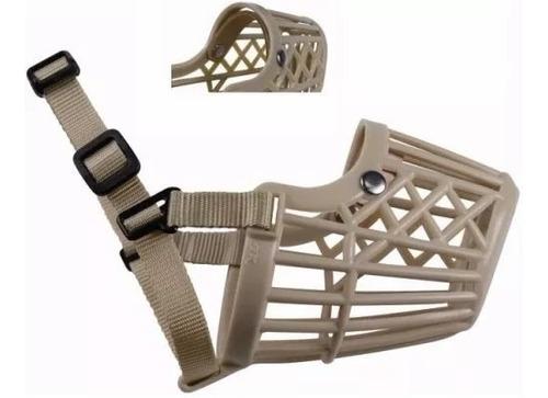 bozal plastico con cinta de nylon ajustable para perros xxl5