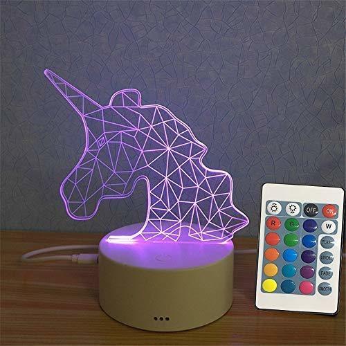 bozoa unicornio luz nocturna / unicornio lampara de noche ac