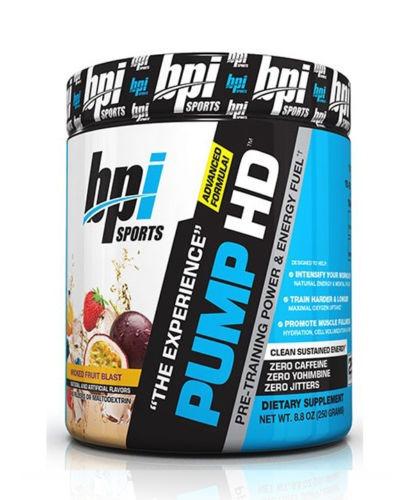 bpi pump hd pre-entreno! con ingredientes especiales !!!