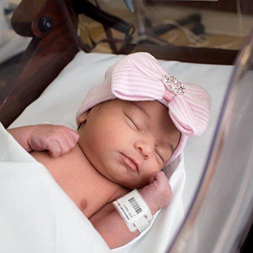bqubo 3 piezas recién nacido hospital hat bebé gorra de bebé