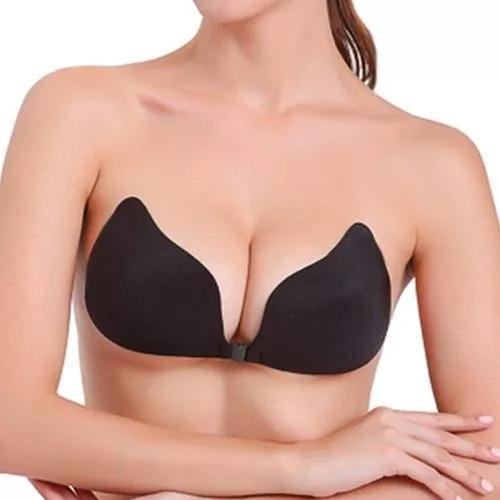 bra textil strapless silicon autoadherible v-bra negro m3021