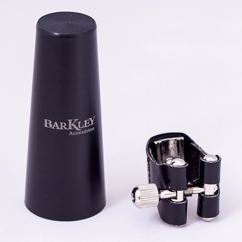 braçadeira barkley couro sax tenor boquilha massa + tampa