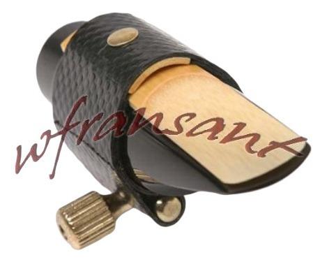 braçadeira couro c ressonador para boquilha yamaha sax alto