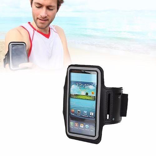 braçadeira neoprene armband nova p/celular iphone 5 5g 5c 5s