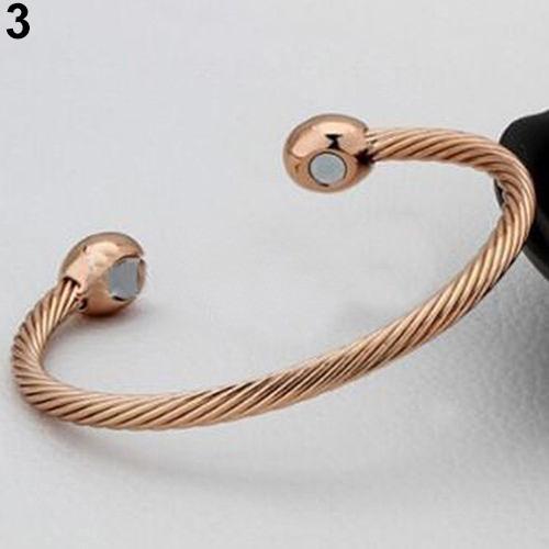 bracelete / 01 pulseira em cobre com extremidades magnéticas