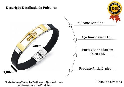 bracelete aço pulseira masculina
