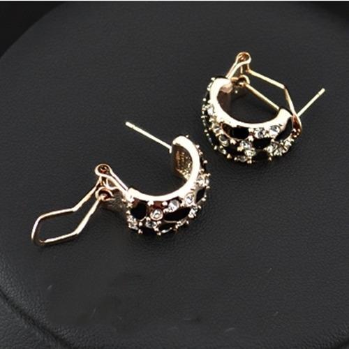 bracelete + brinco leopardo folheado ouro rose18k
