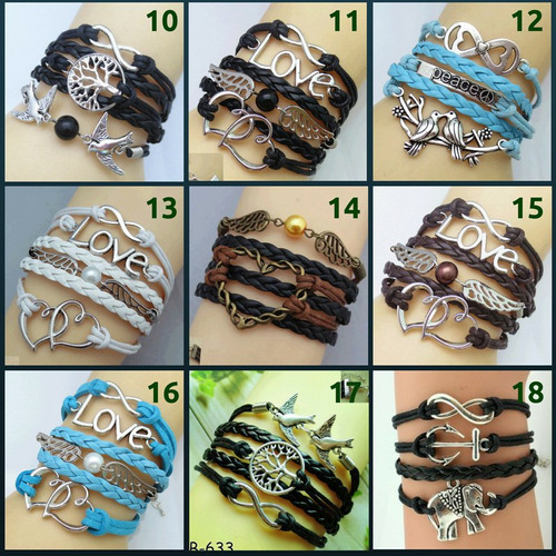 bracelete couro, pulseira feminina