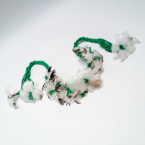 bracelete de penas indígena xamânica ritual adorno espírita
