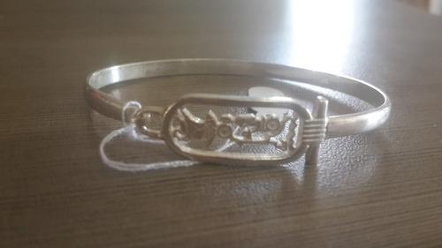bracelete em prata 925 hieróglifos egípcio - egito antigo !!