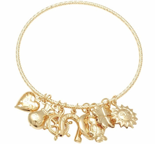 bracelete feminino ouro 18k banhado