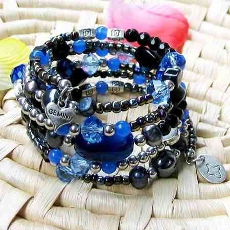 bracelete gemini mix de pedras naturais