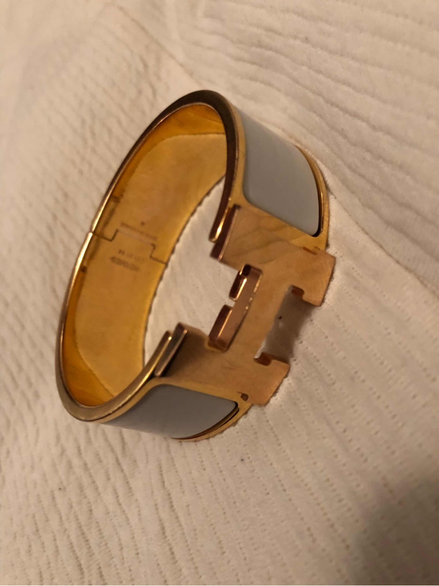 254ad936890 Bracelete Hermes - Made In France - R  1.600