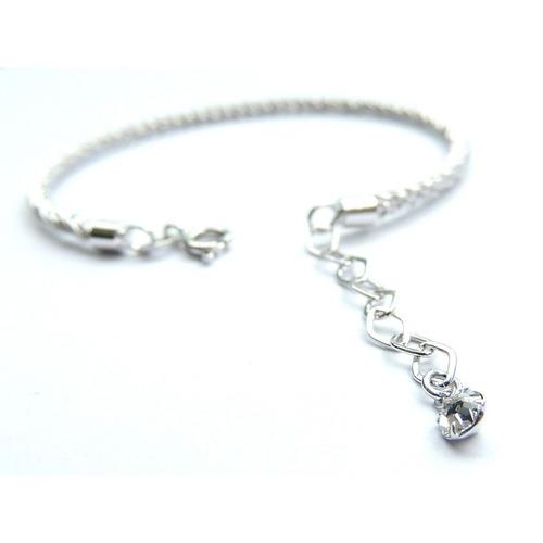 bracelete italiano com cristal austriaco banho ouro branco