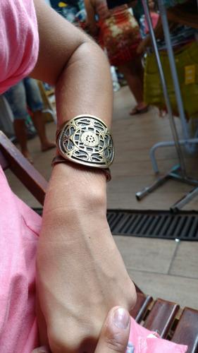 bracelete mandala ouro velho