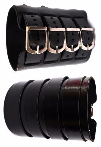 bracelete masculino  com 4 fivelas