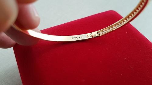 Pulseira Bracelete Folheado A Ouro Bruna Semijoias - 6567 - R  245 ... f06cab3017