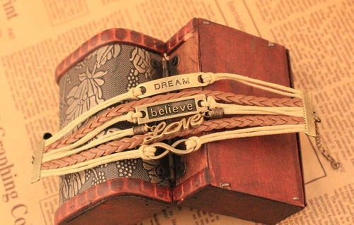 bracelete pulseira dream believe love