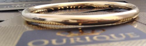 bracelete pulseira feminina  em ouro 18k 750 modelo argola