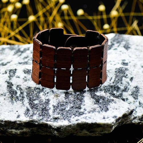 bracelete quadrado - marrom