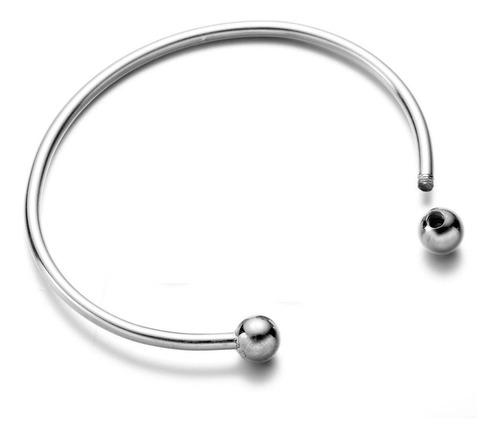 bracelete rígido para berloques - aço inox